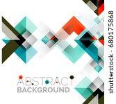 modern square geometric pattern ... | Shutterstock .eps vector #680175868