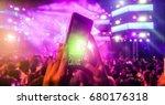 blurred girl hands making video ... | Shutterstock . vector #680176318