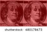 portrait of u.s. president... | Shutterstock . vector #680178673