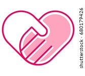 helping hand | Shutterstock .eps vector #680179426