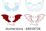 angel and devil wings ... | Shutterstock .eps vector #68018728