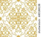 seamless pattern. golden... | Shutterstock . vector #680188138