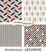 set of abstract geometric... | Shutterstock .eps vector #680188480