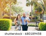 family on a walk | Shutterstock . vector #680189458