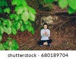 girl in forest | Shutterstock . vector #680189704