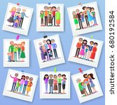 family photography set. happy... | Shutterstock . vector #680192584