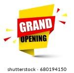 banner grand opening | Shutterstock .eps vector #680194150