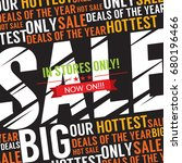 big sale deal vector... | Shutterstock .eps vector #680196466