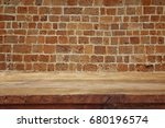 empty old table in front of... | Shutterstock . vector #680196574