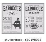 vintage barbecue invitation... | Shutterstock . vector #680198038