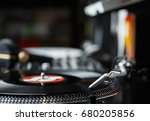 professional party dj turn... | Shutterstock . vector #680205856
