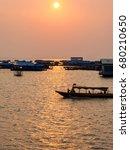 Sunset On The Tonle Sap Lake ...