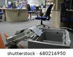 the broken safe in the... | Shutterstock . vector #680216950