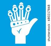 vr manipulator icon white... | Shutterstock .eps vector #680217868