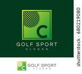 golf sport initial letter c...   Shutterstock .eps vector #680219080
