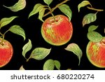 seamless pattern with red... | Shutterstock .eps vector #680220274