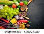 a large selection of raw... | Shutterstock . vector #680224639