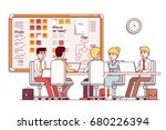 it startup company boardroom... | Shutterstock .eps vector #680226394