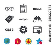 programmer coder glasses icon....