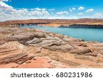 view of lake powell in summer ... | Shutterstock . vector #680231986