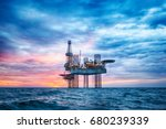 hdr of offshore jack up rig in... | Shutterstock . vector #680239339