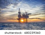 hdr of offshore jack up rig in... | Shutterstock . vector #680239360