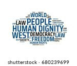human dignity   image with... | Shutterstock . vector #680239699