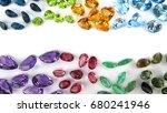 colorful gemstone amethyst... | Shutterstock . vector #680241946