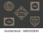antique vector labels | Shutterstock .eps vector #680242834