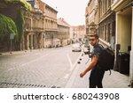 male professional videographer... | Shutterstock . vector #680243908