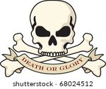 skull and crossbones with death ... | Shutterstock .eps vector #68024512