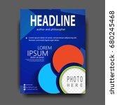 brochure template flyer design... | Shutterstock .eps vector #680245468