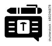 text editor icon | Shutterstock .eps vector #680246878