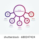 connected circles infographic... | Shutterstock .eps vector #680247424