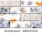 abstract home decorative brick... | Shutterstock . vector #680247610