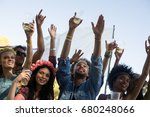 low angle view of friends... | Shutterstock . vector #680248066