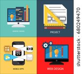 business concept flat icons | Shutterstock . vector #680249470
