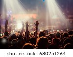 crowd at concert   summer music ... | Shutterstock . vector #680251264
