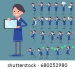 a set of women with digital... | Shutterstock .eps vector #680252980