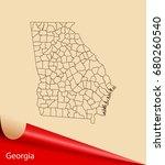 map of georgia   Shutterstock .eps vector #680260540