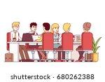 teamwork  brainstorm... | Shutterstock .eps vector #680262388