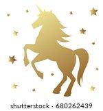 unicorn silhouette vector... | Shutterstock .eps vector #680262439