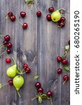 set of fresh fruits and berries ... | Shutterstock . vector #680265190