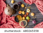 set of fresh fruits and berries ... | Shutterstock . vector #680265358