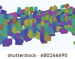 abstract colored square ... | Shutterstock .eps vector #680266690