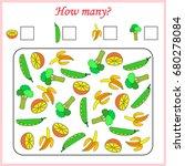 worksheet . mathematics task.... | Shutterstock .eps vector #680278084