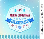 raster copy christmas and... | Shutterstock . vector #680278150