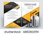 vector brochure layout  flyers... | Shutterstock .eps vector #680281054