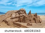 Sand Sculpture At Fulong Beach...