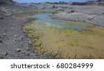 dry lake with clay mud....   Shutterstock . vector #680284999